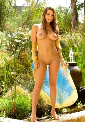 Christine Veronica Nude in the Garden